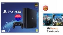 Sony Playstation 4 Pro 1 Tb Eurasia Garantili (Ps4 Pro)+Ps4 God Of War Türkçe+Horizon Zero Dawn Ps4