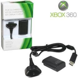 Microsoft Xbox 360 Gamepad Oyun Kolu Şarj Kit Xbox 360 Batarya + Şarj Kablosu