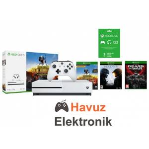 Xbox One S 1 TB Oyun Konsolu 4K +PUBG+ Halo 5 + GOW Ultimate Edition Xbox One Oyunları